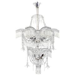 Crystal Palm Tree Chandelier, 1920