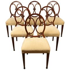 Set of Six Danish Mahogany Side Chairs