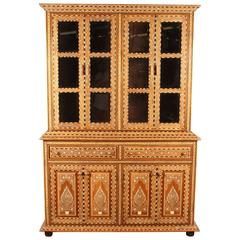 Richly Inlaid Indian Cabinet