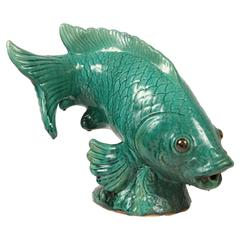 Wonderful Large Ceramic Koi Figure