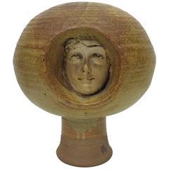 Surprising Ceramic Portrait of a Female Face