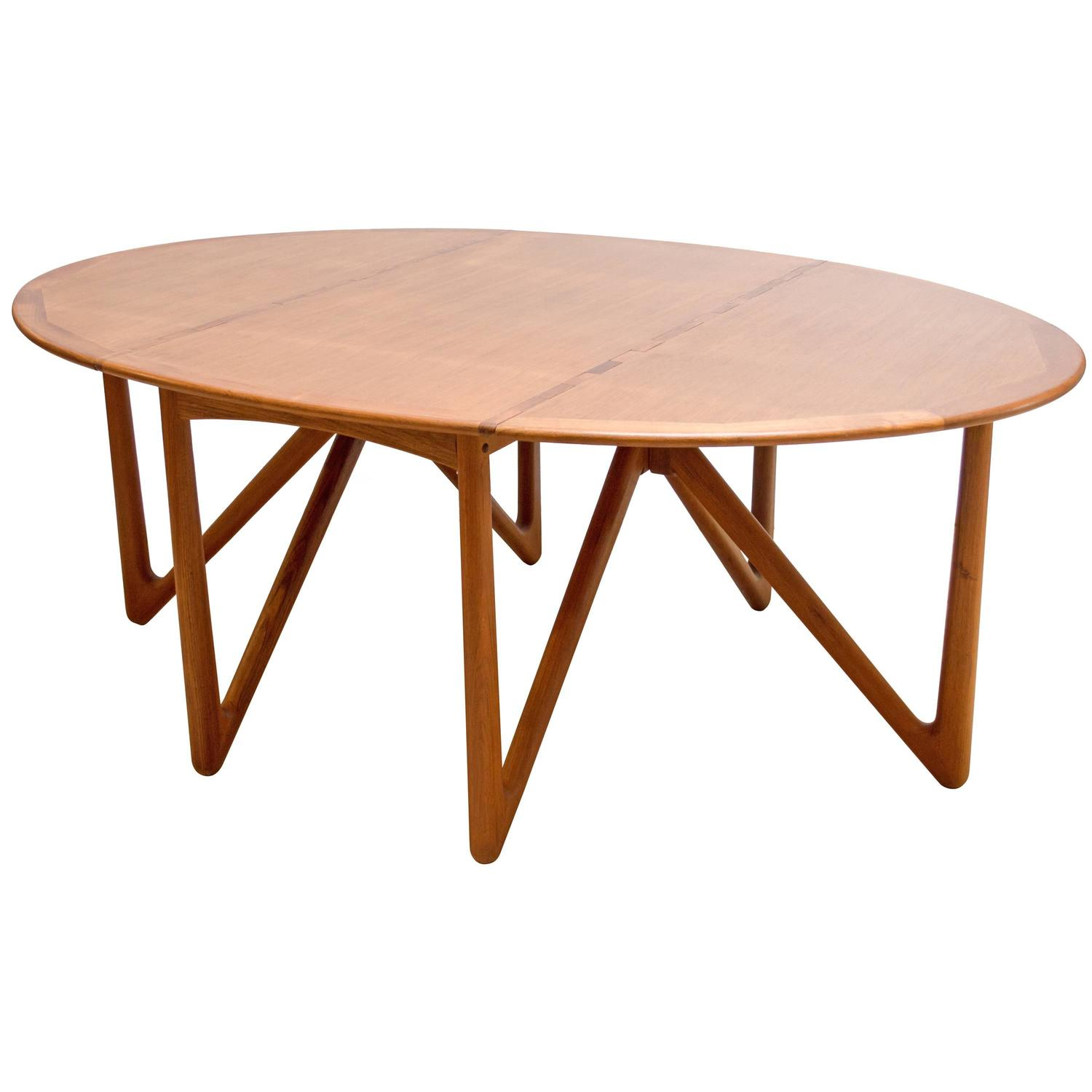 Kurt ostervig for jason mobler danish modern drop leaf for Dining room tables drop leaf