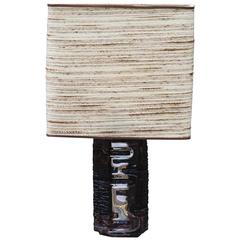 Rare Daum France Signed Brutalist Table Lamp