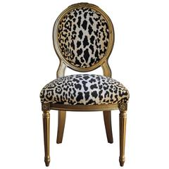 French Louis XVI Style Accent Chair