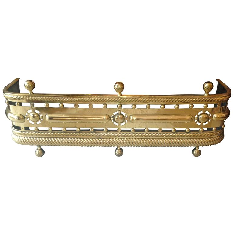 American 19th Century Brass Fender For Sale