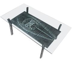 Brutalist Coffee Table in Cast Iron and Glass, Belgium 1970s
