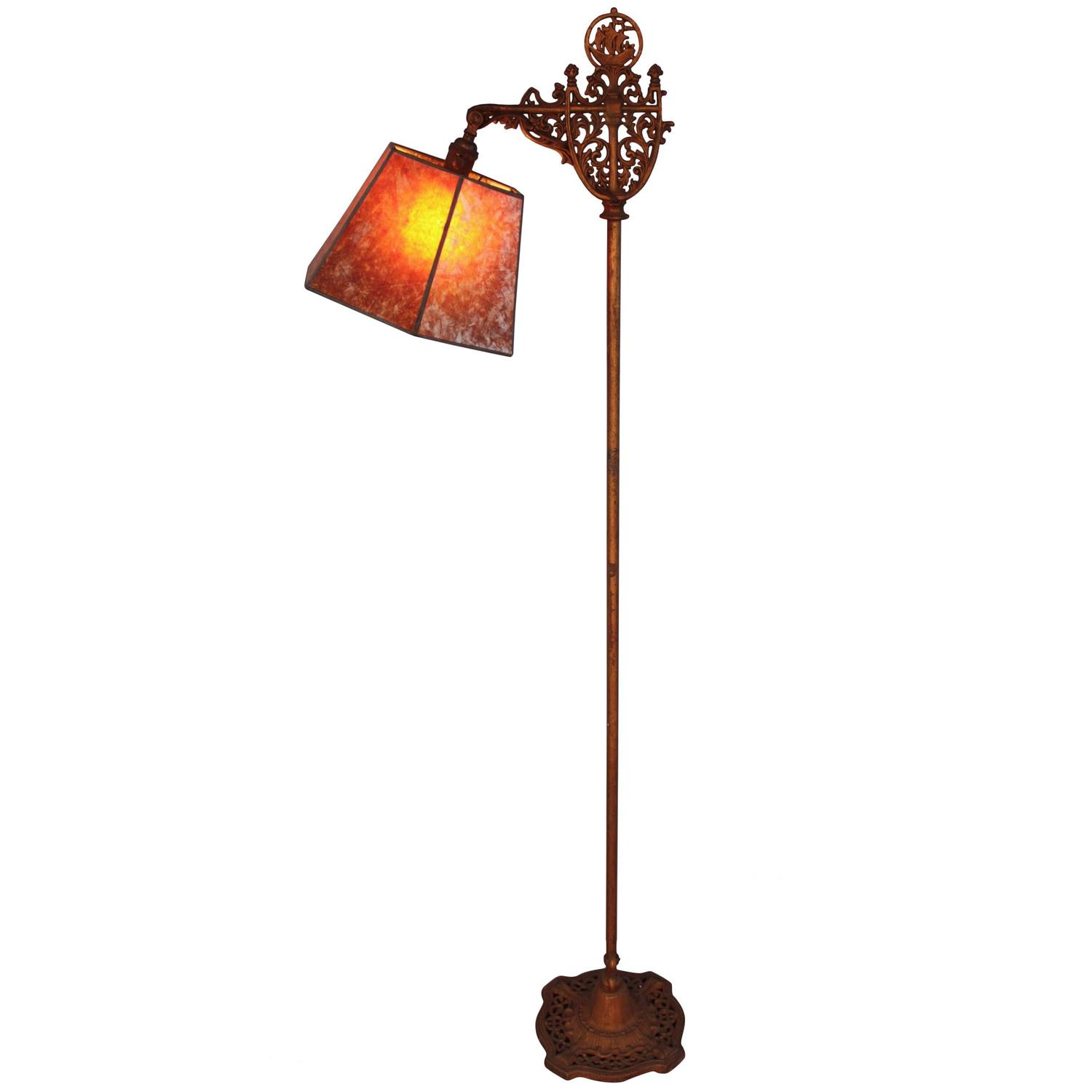Spanish Galleon Motif Bridge Floor Lamp 1920s For Sale At