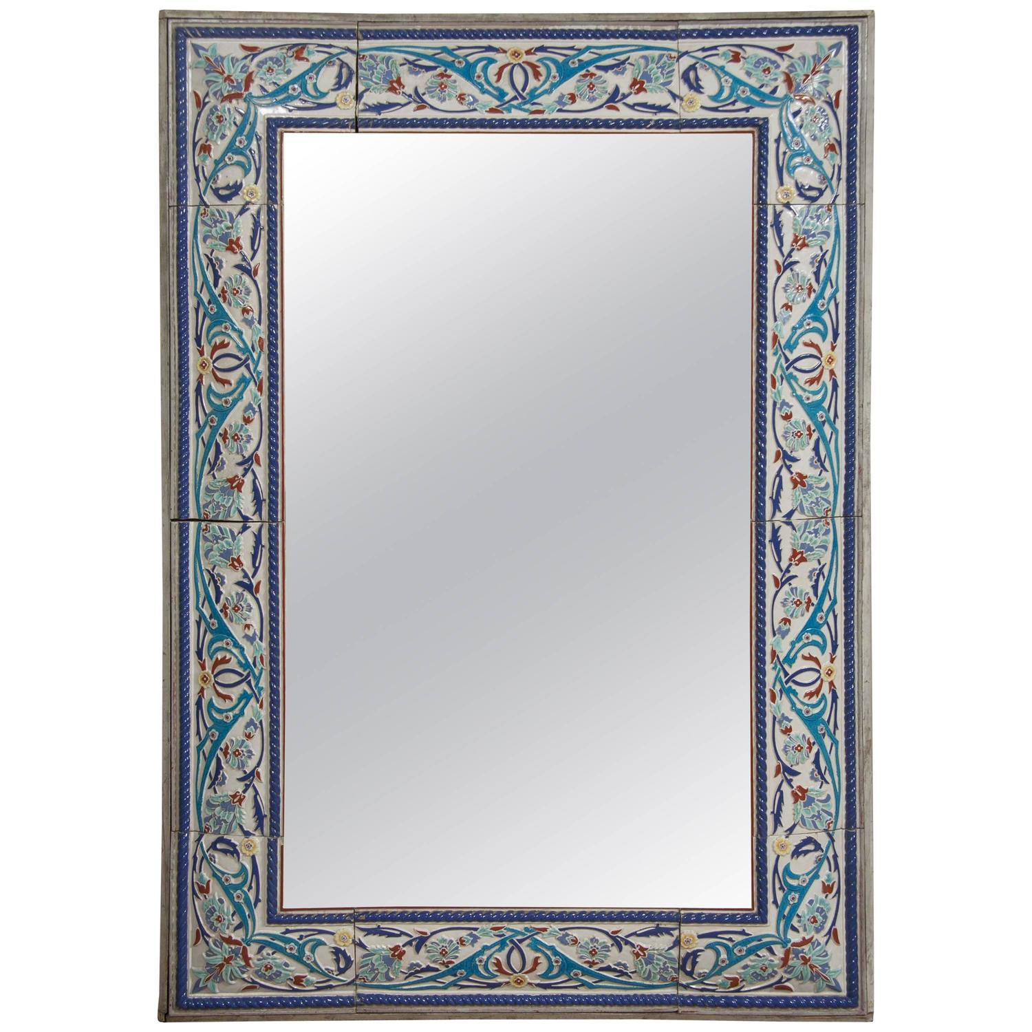 Tiles With Borders: Iznik Style Tile Border Mirror At 1stdibs