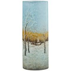 Daum Nancy Dutch Landscape Vase, circa 1900