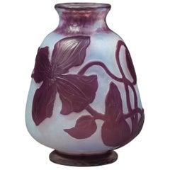 Daum Nancy Wheel Carved Vase, circa 1900