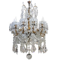 Neoclassical Style Crystal Chandelier by Baccarat and Barbedienne
