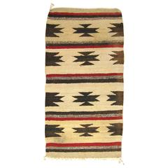 Vintage Mexican Zapotec Rug, in Small Size, with Stylized Stars & Stripes Design