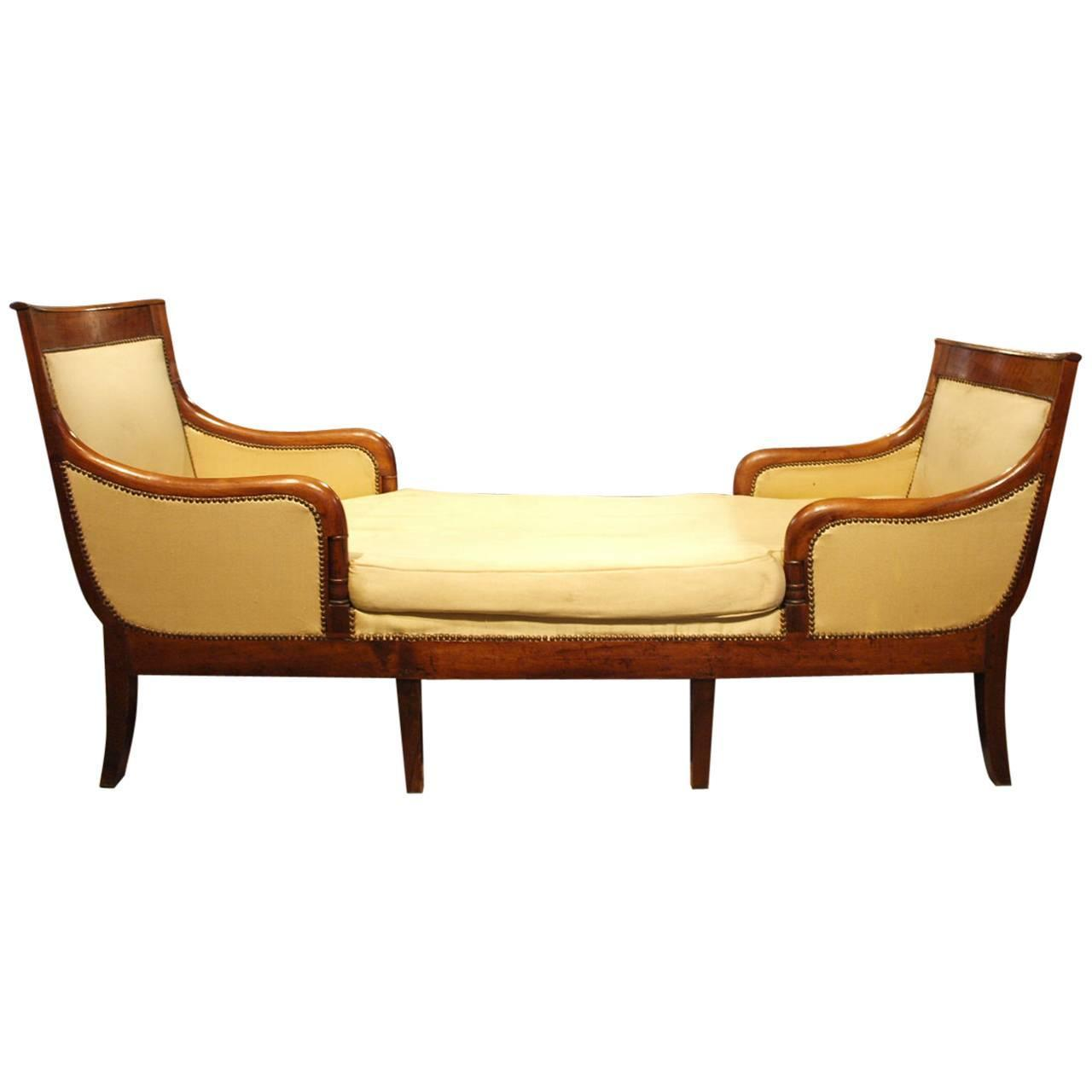 French early 19th century directoire period chaise longue for Chaise longue daybed