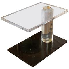 Lion Frost Lucite Table