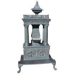 American  Cast Iron Parlor Stove, 19th Century