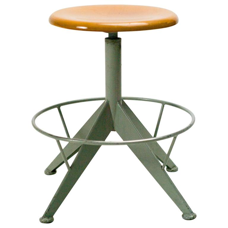 Industrial 1950s French Artist Painters Work Stool At 1stdibs