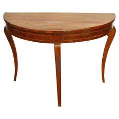18th Century Demilune Table