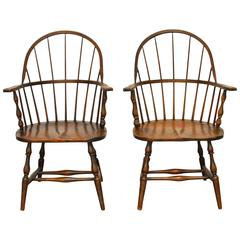 19th Century Sack Back Windsor Chairs