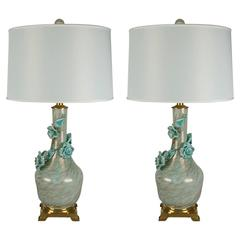 Matched Pair of Vintage Murano Lamps for Marbro