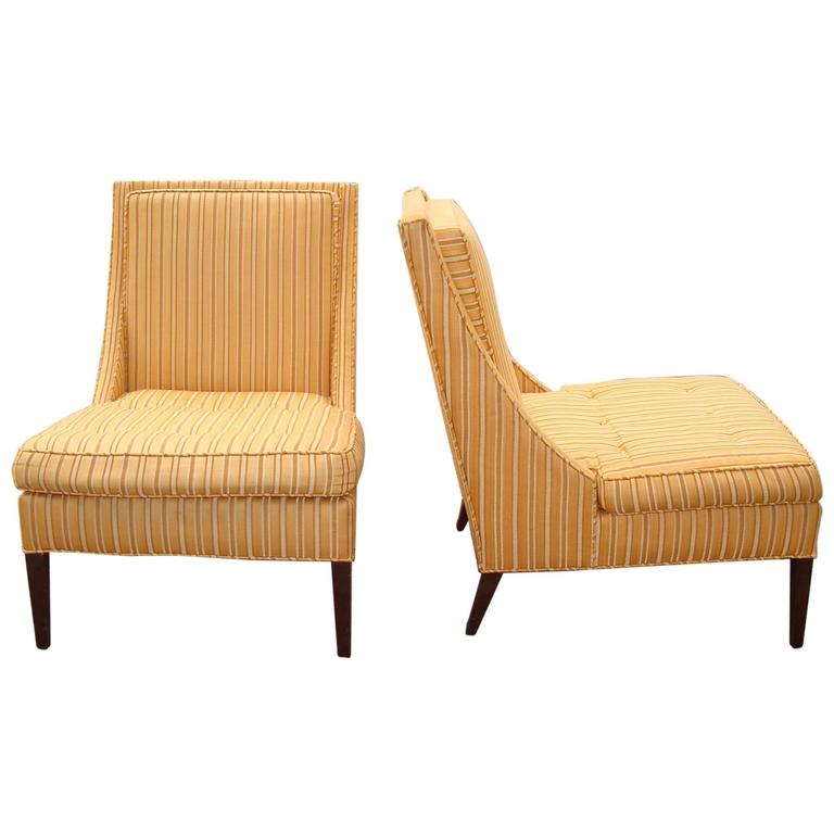pair of mid century slipper chairs for sale at 1stdibs