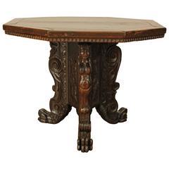 Italian Renaissance Walnut Center Table, Late 16th-Early 17th Century