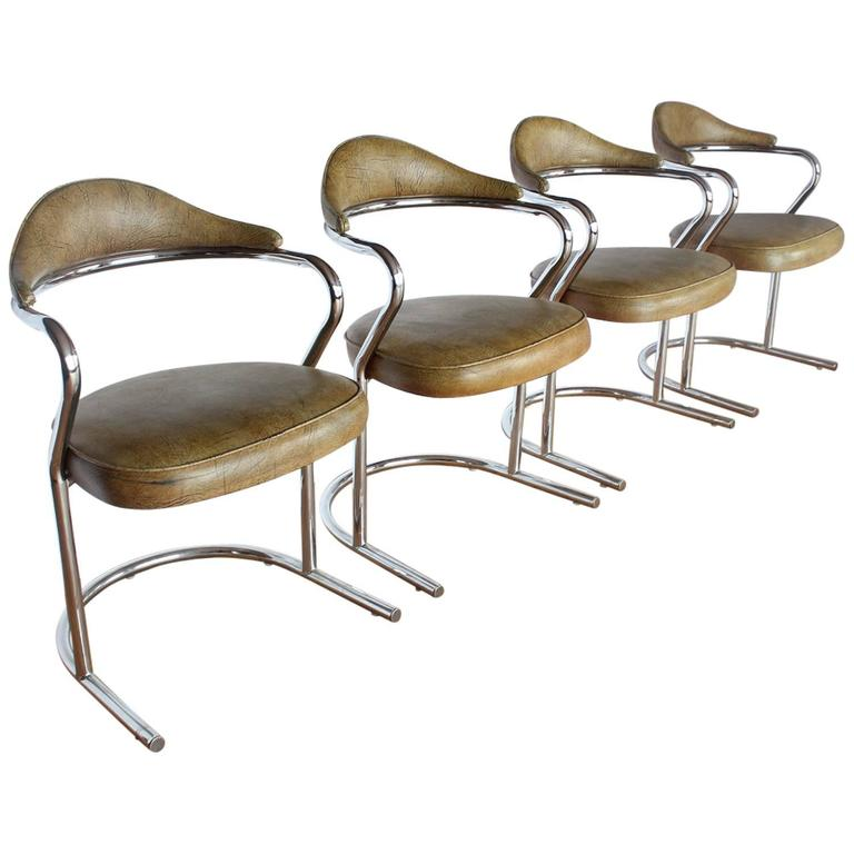 Stylish 1950s Chrome Armchairs For Sale At 1stdibs