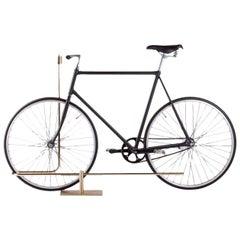 Bi-Track Bicycle Stand in Polished Brass by Masanori Mori, Wallpaper Award