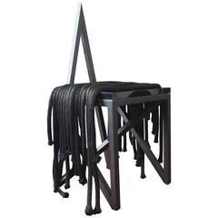 Contemporary Black Metal 'Pagan' Star Side Chair by Material Lust, 2014
