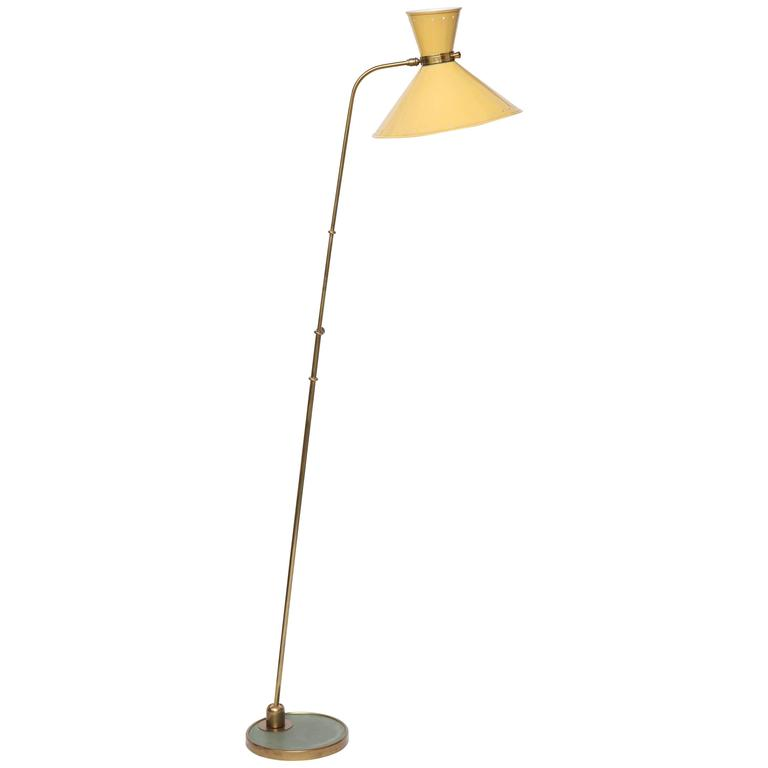 1950s French Articulated Floor Lamp by Boris Lacroix For Sale