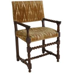 Louis XIII Period Walnut Fauteuil or Armchairs