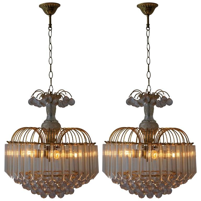 Two Elegant Italian Chandeliers For Sale