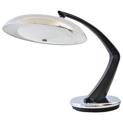 Beautiful Black and Chrome Table Lamp,1960s