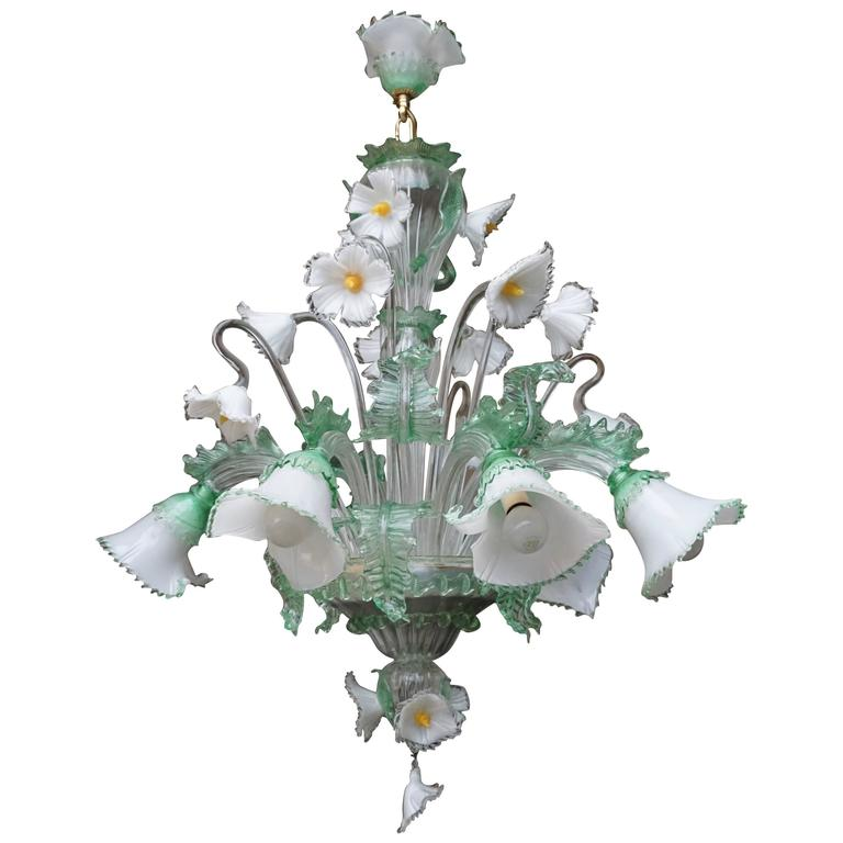 Huge Venetian Murano Glass Chandelier