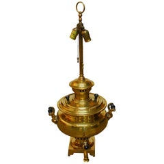 Russian Brass Samovar Lamp