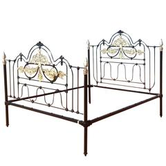 Wide Moroccan Cast Iron Bed