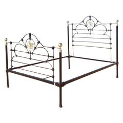 Cast Iron and Brass Bed