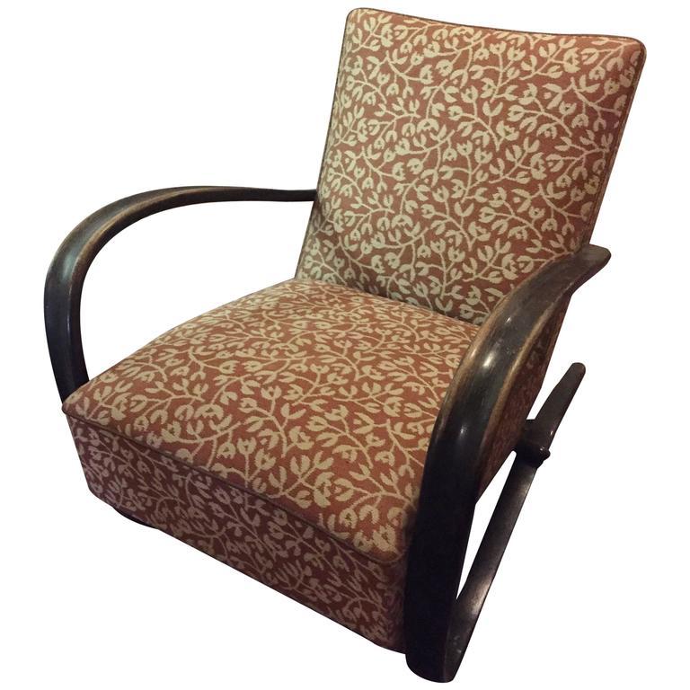 Jindrich Halabala Art Deco Quot H269 Quot Chair At 1stdibs