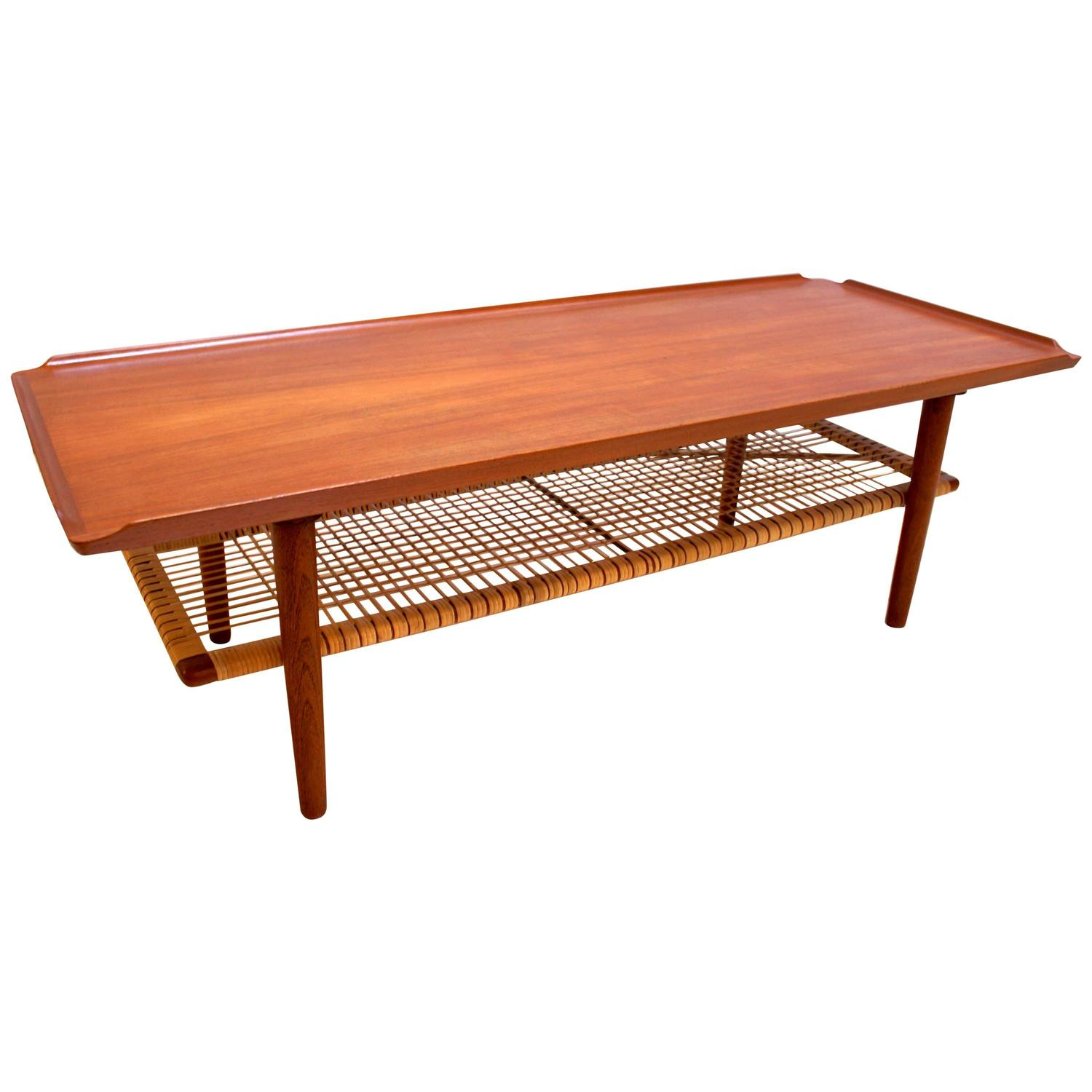 Danish modern poul jensen teak coffee table at 1stdibs One of a kind coffee tables