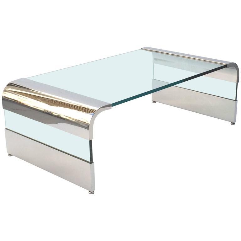 Waterfall Cocktail Table by Leon Rosen for Pace Collection