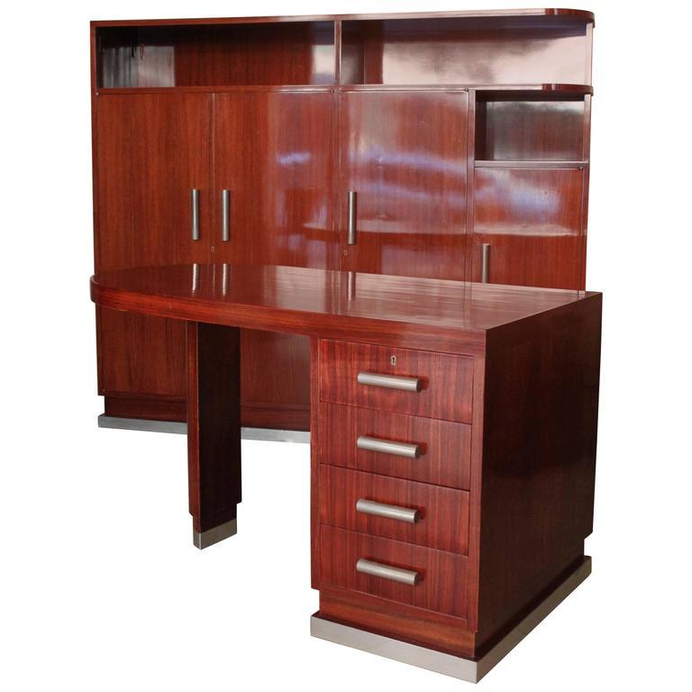 Art Deco Desk And Cabinet