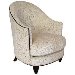 Art Deco Barrel Back Chair