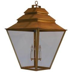 Large Brass Hanging Lantern