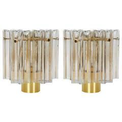 Pair of Mid-Century Modern Venini Glass Sconces by Limburg
