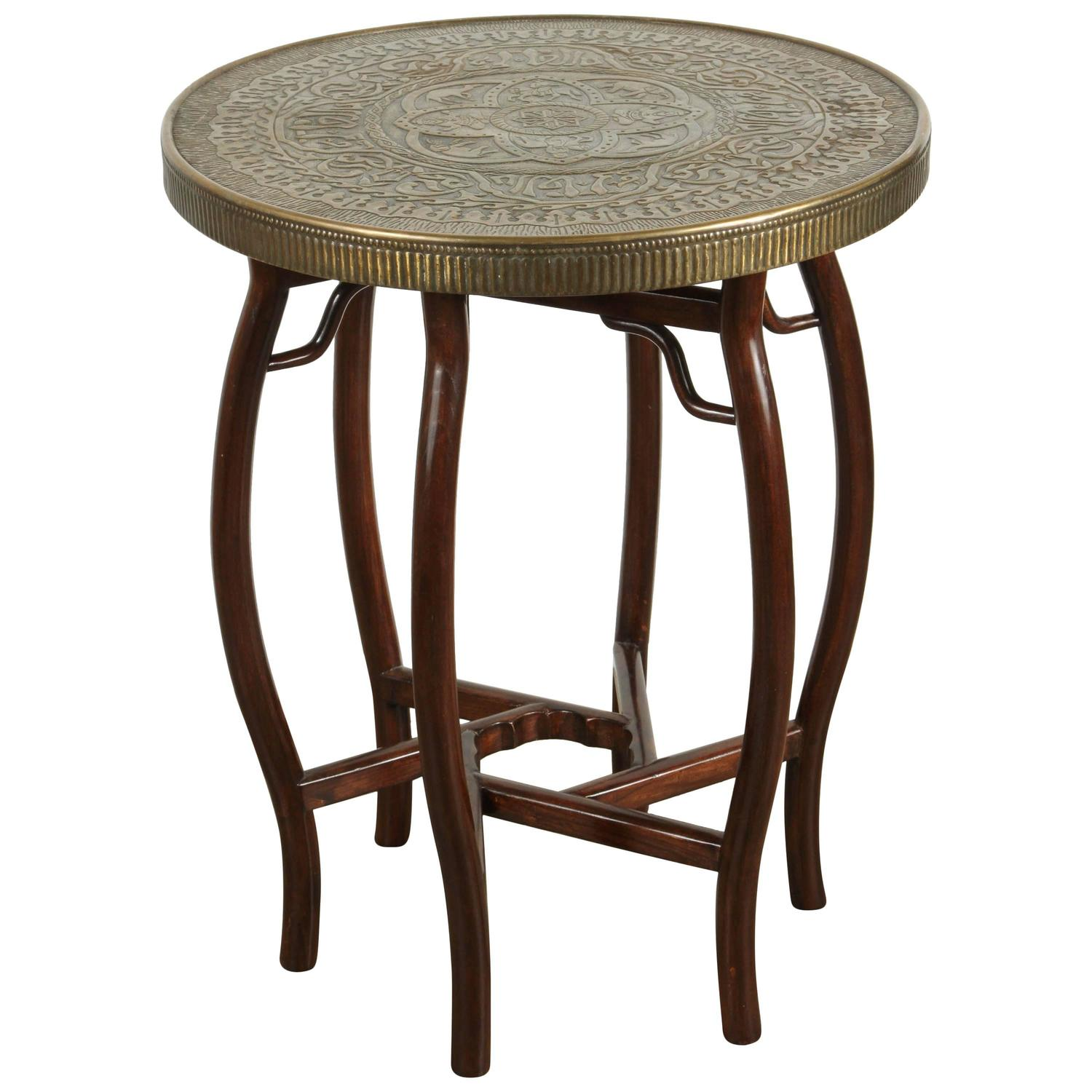 Brass tray side table at 1stdibs for Tray side table