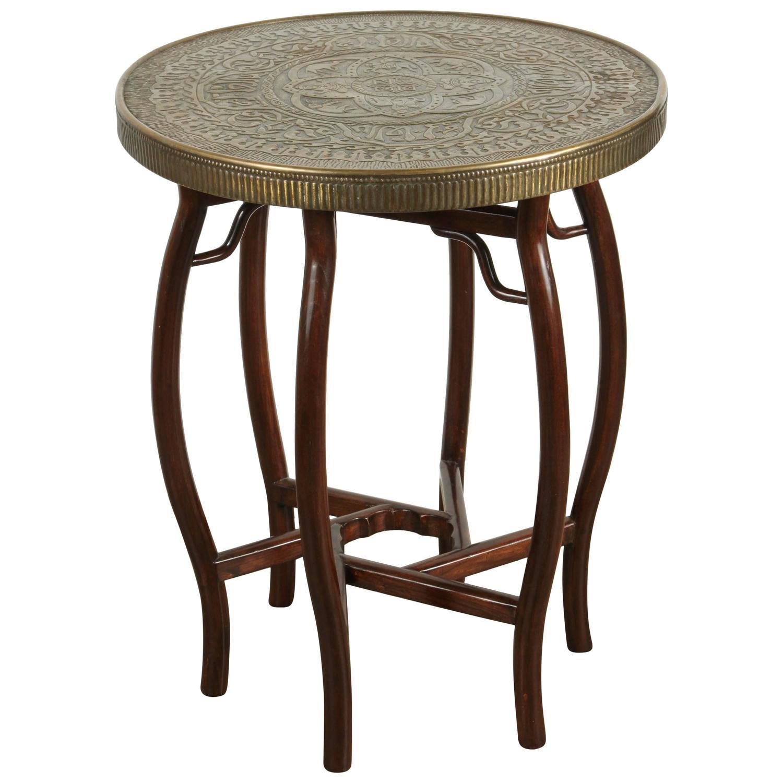brass tray side table at 1stdibs. Black Bedroom Furniture Sets. Home Design Ideas