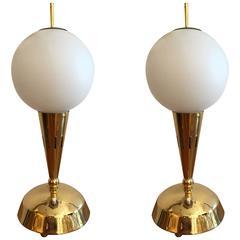 Pair of Italian Mid-Century Modern, 1950s Table Lamps