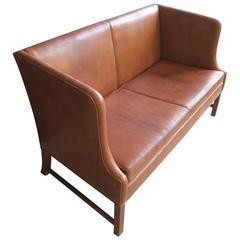 1937 Sofa in Patinated Nigerian Goatskin by Ole Wanscher