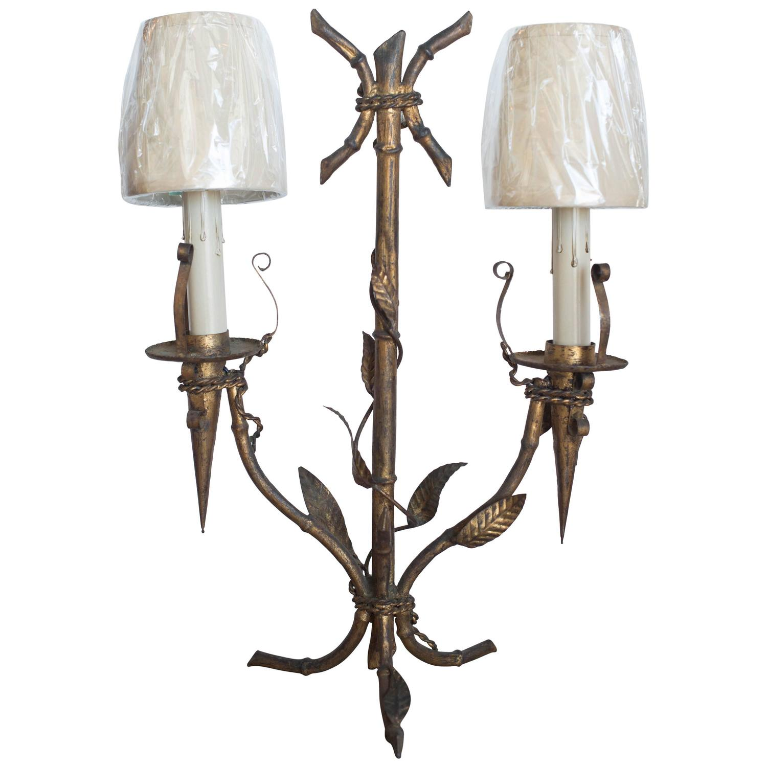 Mid 20th century two arm metal table lamp from barcelona for Table lamp with 2 arms