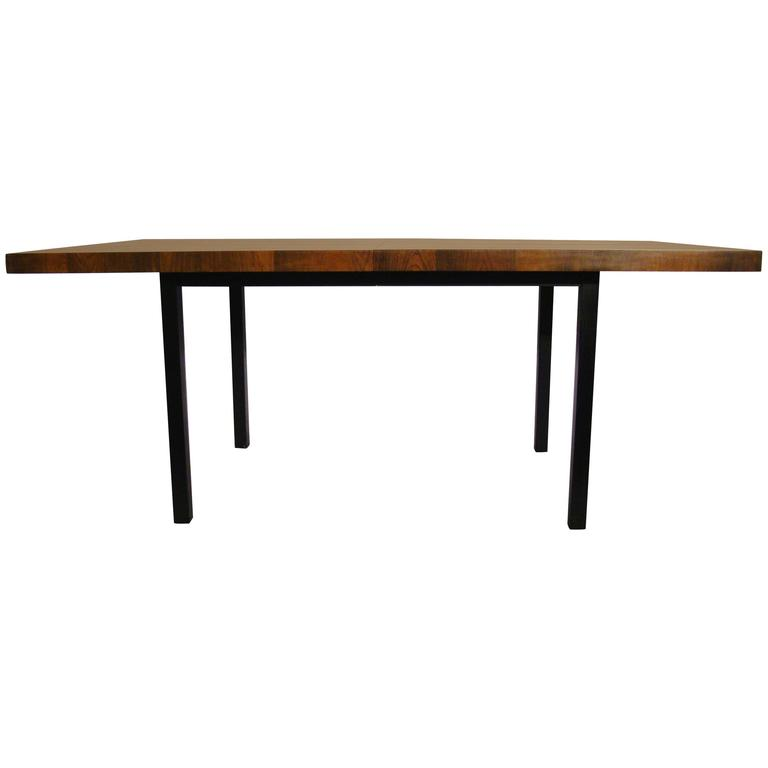 Milo Baughman Multi Wood Dining Table by Directional