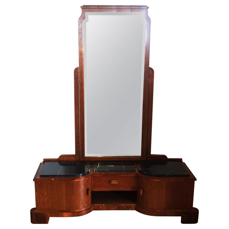 this art deco german dressing table with full length mirror is no